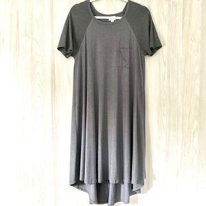 Lularoe Carly Dress Size S, Charcoal Gray